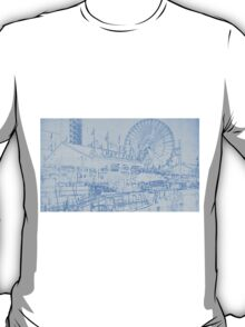 Navy Pier Chicago Blueprint T-Shirt