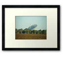 Radio telescope at Parkes Framed Print