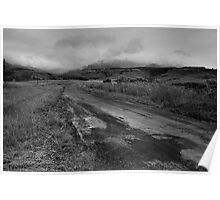 Road in the Drakensberg Poster