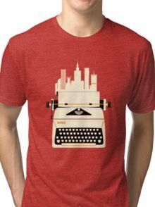 Typewrite a City Tri-blend T-Shirt