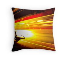 the speed of light Throw Pillow