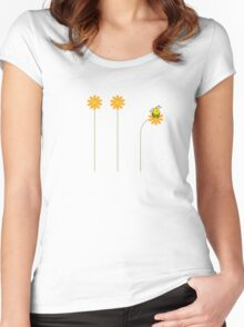 FAT Bumble T Shirt Women's Fitted Scoop T-Shirt