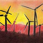 Wind Farm Sunset by Evelyn Smoldon