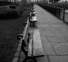 Park Benches Greenwich by DavidFrench
