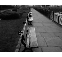Park Benches Greenwich Photographic Print