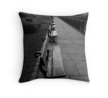 Park Benches Greenwich Throw Pillow