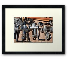 Old manual  meat mincer Framed Print