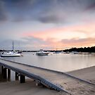 Sunrise Boats by Kirk  Hille