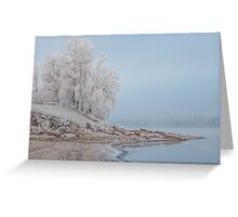 foggy winter landscape Greeting Card