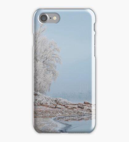 foggy winter landscape iPhone Case/Skin