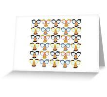 Goofy Glasses Greeting Card