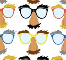 Goofy Glasses Sticker