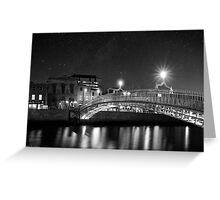At Night In Beautiful Dublin Ireland Greeting Card