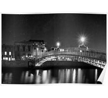 At Night In Beautiful Dublin Ireland Poster