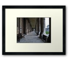 Pillars of the Royal Naval College Greenwich Framed Print