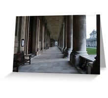 Pillars of the Royal Naval College Greenwich Greeting Card
