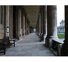 Pillars of the Royal Naval College Greenwich Photographic Print