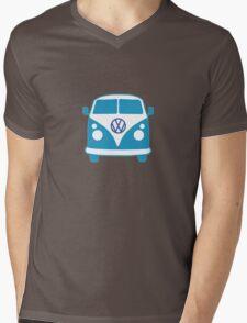 VW Camper T Shirt (blue) Mens V-Neck T-Shirt
