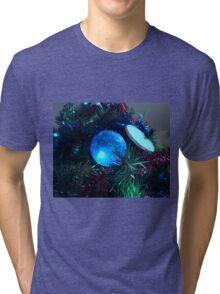 Christmas in Blue Tri-blend T-Shirt