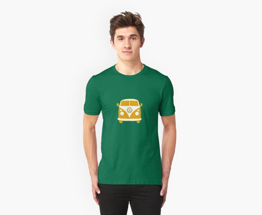 VW Camper T Shirt (orange) by Pinhead Industries