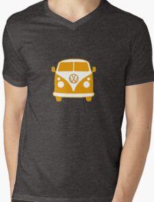 VW Camper T Shirt (orange) Mens V-Neck T-Shirt
