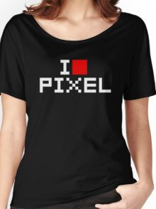 A retro love, I love pixel Women's Relaxed Fit T-Shirt