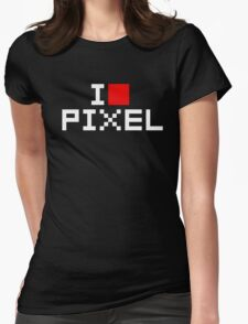 A retro love, I love pixel Womens Fitted T-Shirt