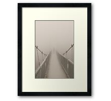 In A Fog Framed Print
