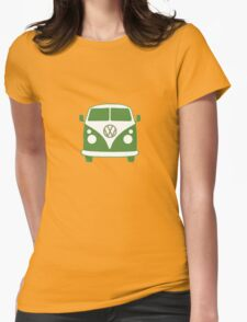VW Camper T Shirt (green) Womens Fitted T-Shirt