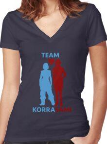team korrasami Women's Fitted V-Neck T-Shirt