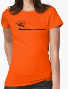 Red Flower Tree Womens Fitted T-Shirt