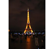 Eiffel Tower at night. Photographic Print