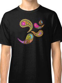 Retro Paisley Om Yoga / Yogini T-shirt Classic T-Shirt