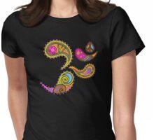 Retro Paisley Om Yoga / Yogini T-shirt Womens Fitted T-Shirt