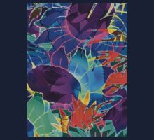 Floral Abstract Artwork Baby Tee