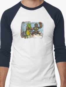 King Kong Vs. Floaty Men's Baseball ¾ T-Shirt