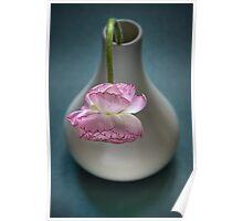 Ranunculus in a Vase Poster