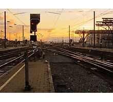 End of the platform Photographic Print