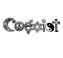 """Coexist"" Zentangle Photographic Print"