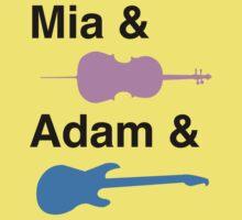 Mia & (Cello) & Adam & (Guitar). Kids Tee