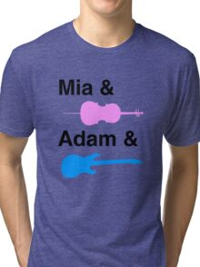 Mia & (Cello) & Adam & (Guitar). Tri-blend T-Shirt