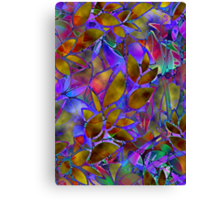 Floral Abstract Stained Glass Canvas Print
