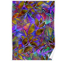 Floral Abstract Stained Glass Poster