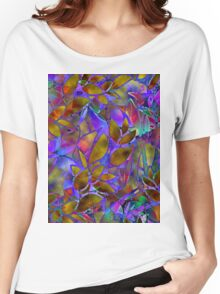 Floral Abstract Stained Glass Women's Relaxed Fit T-Shirt