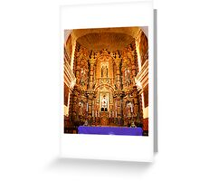 Red and Gold Altar Greeting Card