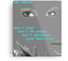 The Rules Metal Print