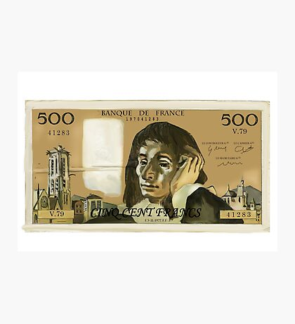 50 Old French Franc  note - Front side Photographic Print