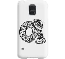 "Hipster Letter ""A"" Zentangle Samsung Galaxy Case/Skin"