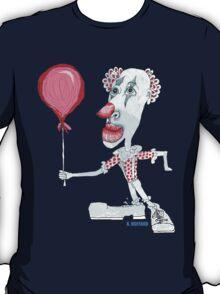 Circus Clown w. Red Ballon T-Shirt