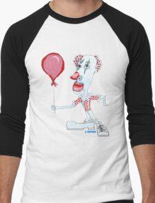 Circus Clown w. Red Ballon Men's Baseball ¾ T-Shirt